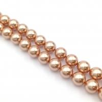 Swarovski 10 бусин Crystal Rose Gold Pearl