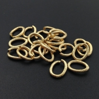 Цепочка очень Крупная; рифлёный Овал 25мм и Кольцо 15мм; Италия, цвет золото