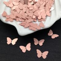 Пайетки Италия Бабочка, Античная Роза Metal (3029); 24 штуки