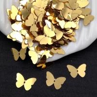 Пайетки Италия Бабочка, Золото Metallizzati (2011); 24 штуки