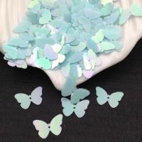 Пайетки Италия Бабочка, Голубой- радужный эффект (560); 24 штуки