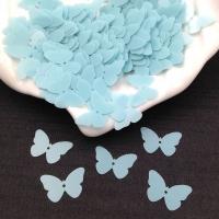 Пайетки Италия Бабочка, Голубая- глянцевая (6104); 24 штуки