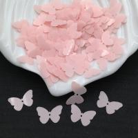 Пайетки Италия Бабочка, Нежная роза- глянцевая (3344); 24 штуки