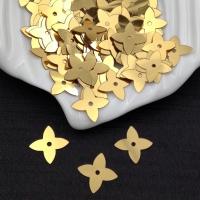 Пайетки Италия Клевер-Звезда, Золото Metallizzati (2011); 32 штуки
