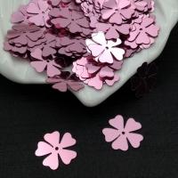 Пайетки Италия Клевер-Цветок, Роза Metallizzati (3821); 15 штук
