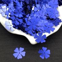 Пайетки Италия Клевер-Цветок, Тёмно-фиолетовый Metallizzati (5561); 15 штук