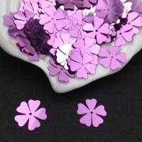 Пайетки Италия Клевер-Цветок, Лиловый Metallizzati (5031); 15 штук