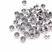 Swarovski Шатон 4мм Silver Black Diamond - 20 штук (арт.53200)