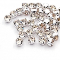 Swarovski Шатон 4мм Silver Light Silk - 20 штук (арт.53200)