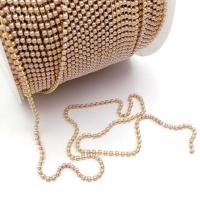 Цепь жемчужная (имитация), размер 2мм; цвет золото; 1 метр