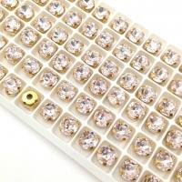 10 штук! Кристалл Шатон Rosaline 8мм В ОПРАВЕ золото
