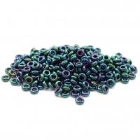 5 грамм Бисер TOHO DEMI Round 8/0 # 506 Зелёный радужный металлик