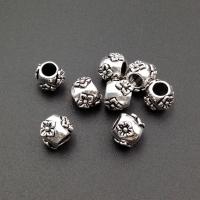 Серебро, Бусина объёмные цветы; 7.7мм