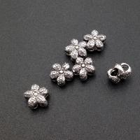 Серебро, Бусина 5-тилистный цветок; 7.6мм