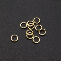 Соединительные колечки, серебро 925 позолоченное; Разъёмное 5*0.9 мм (10штук)