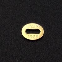 Серебро 925 позолоченное, Коннектор размер 5*4мм