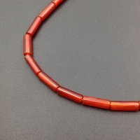 Бусина Трубочка натуральный Сердолик 13*4мм; 2 бусины
