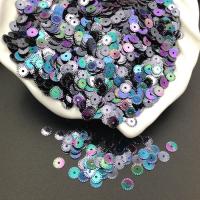 Пайетки Италия Рифлёные Скарабей металл AB Irise (9275); 3 грамма