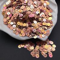Пайетки Италия Рифлёные Золотисто-Розовый металл AB Irise (2345); 3 грамма