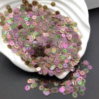 Пайетки Италия Рифлёные Хаки-зелёный AB полупрозрачный Irise Trasparenti (137); 3 грамма