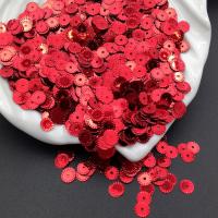 Пайетки Италия Рифлёные Красный металл (4061); 3 грамма