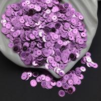Пайетки Италия Рифлёные Лиловый металл (5031); 3 грамма