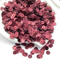 Пайетки Италия Рифлёные Бордо металл (4071); 3 грамма