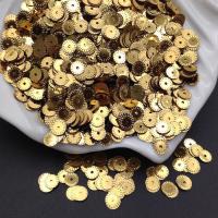Пайетки Италия Рифлёные Золото металл (2011); 3 грамма
