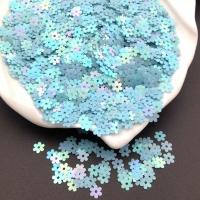 Пайетки Италия Цветок-5мм темно-Голубой АВ Orientali (164); 3 грамма