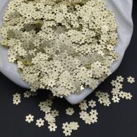 Пайетки Италия Цветок-5мм Солнечный жёлтый сатин (216w); 3 грамма