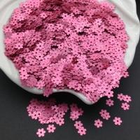 Пайетки Италия Цветок-5мм Тёмно-Розовый сатин (396w); 3 грамма