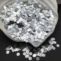 Пайетки Италия Цветок-5мм Серебро металл (1111); 3 грамма