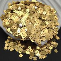 Пайетки Италия Цветок-5мм Золото металл (2011); 3 грамма