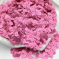 Пайетки Италия; плоские 3мм; тёмно-Розовый сатин (396w); 3 грамма