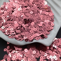 Пайетки Италия; плоские 4мм; тёмно-Розовый metallizzati (3271); 3 грамма