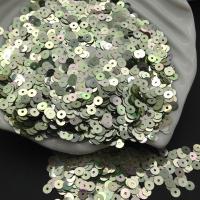 Пайетки Италия; плоские 4мм; Зелёный радужный metall (7025); 3 грамма