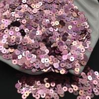 Пайетки Италия; плоские 3мм; Розовый АВ metall (3075)