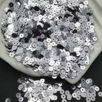 Пайетки Италия; плоские 4мм; Сталь metallizzati (9021); 3 грамма