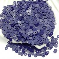 Пайетки Италия; плоские 4мм; Сине-Фиолетовый глянец (5254); 3 грамма