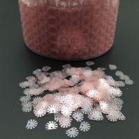 Пайетки Италия; Ракушка Розовая AB (134); 50 штук