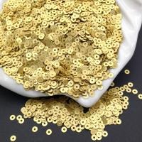 Пайетки Италия; плоские 3мм; жёлтое Золото сатин (236w); 3 грамма