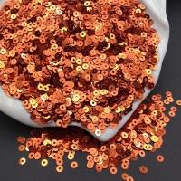 Пайетки Италия; плоские 3мм; Апельсин metallizzati (2341); 3 грамма