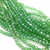 Хрустальные бусины шар 4мм; яркий Зелёный АВ №15; 100 бусин в тубе