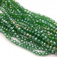 Хрустальные бусины шар 4мм; тёмный Зелёный АВ №19; 100 бусин в тубе