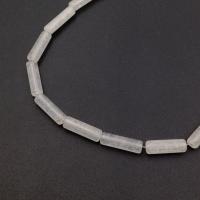 Бусина Трубочка белый Халцедон 13*4мм; 2 бусины