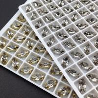 Кристалл Лодочка 10*5мм - Black Diamond - В ОПРАВЕ