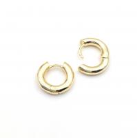Коннектор mini Клевер 4 Фианита, цвет золото