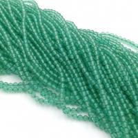 Бусина Шар 2мм, Зелёный халцедон - 38 см