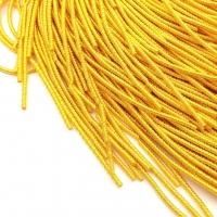 Фигурная Канитель Бамбук 2.1мм; 5гр.; ярко-Желтый