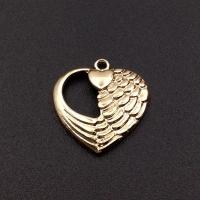 Подвеска Сердце Ангела 19мм, цвет золото